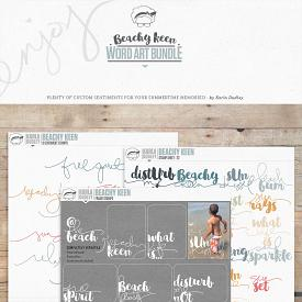 Beachy Keen | word art bundle