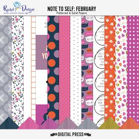 Note To Self February | Papers