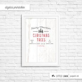 Rocky Mountain Christmas Trees | Printable Home Decor