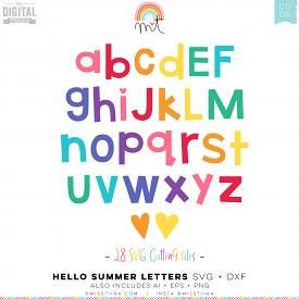 Hello Summer Letters SVG (CU)