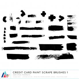 Credit Card Paint Scrape Brushes 1 (CU)