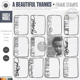 A Beautiful Thanks | Frame Stamps