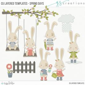 Spring Days Layered Templates (CU)