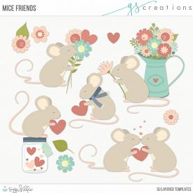 Mice Friends Layered Templates (CU)