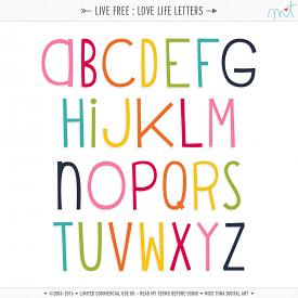 Live Free : Love Life Letters (CU)