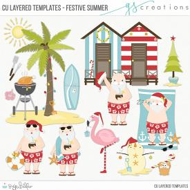 Festive Summer Layered Templates (CU)
