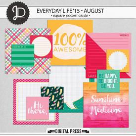 Everyday Life '15 - August | Square Cards