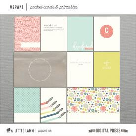 Meraki | Pocket Cards & Printables