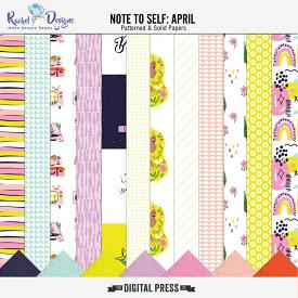 Note To Self April | Papers