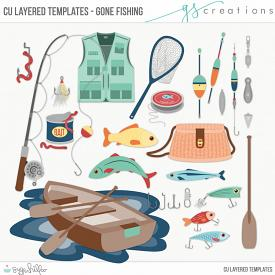 Gone Fishing Layered Templates (CU)