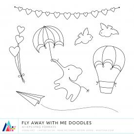 Fly Away With Me Doodles (CU)