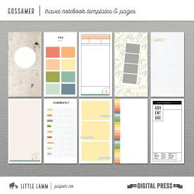 Gossamer | Travel Notebook Templates