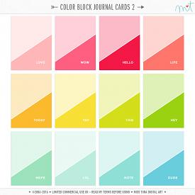 Color Block Journal Cards 2 (CU)