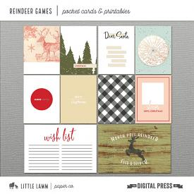 Reindeer Games | Pocket Cards and Printables