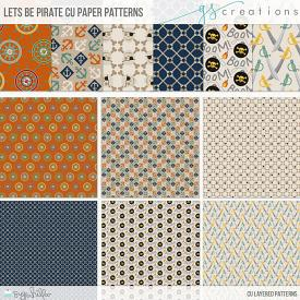 Let's Be Pirates Patterns (CU)