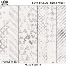 Happy Holidays | Silver Papers
