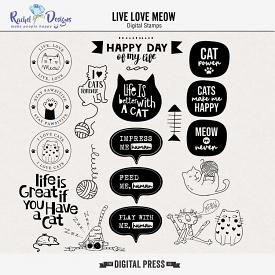Live Love Meow | Stamps