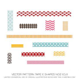 Layered Pattern Tape & Shapes No2 (CU)