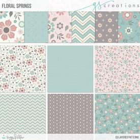 Floral Springs Layered Patterns (CU)