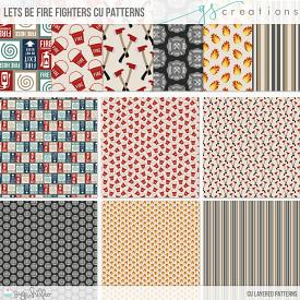 Let's Be Fire FIghters Patterns (CU)