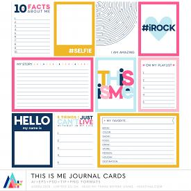 This is Me Journal Cards (CU)