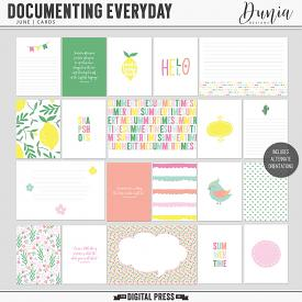 Documenting Everyday | June - Cards