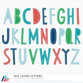 Ten Layer Letters (CU)