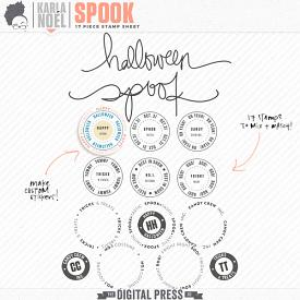 Spook | stamp sheet