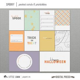Spooky Collection   Pocket Cards & Printables
