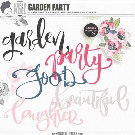 Garden Party | Word Art Stamps