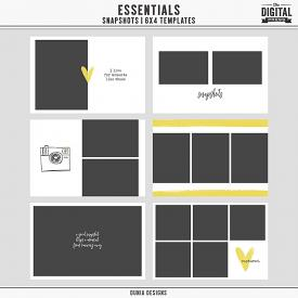 Essentials | Snapshots - 6x4 Templates