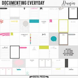 Documenting Everyday  (2019) Journal Cards