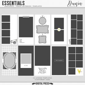 Essentials | Snapshots - Travel Notebook Templates