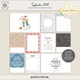Make it count: September 2018 | pocket cards