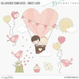 Sweet Love Layered Templates (CU)