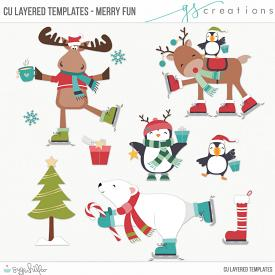 Merry Fun Layered Templates (CU)