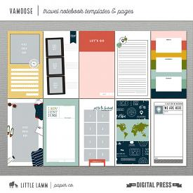 Vamoose│Travel Notebook Pages and Templates