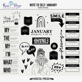 Note To Self January | Stamps