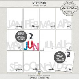 My Everyday | Monthly Cards & Templates