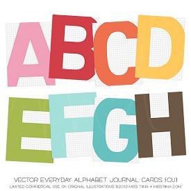 Everyday Alphabet Journal Cards (CU)