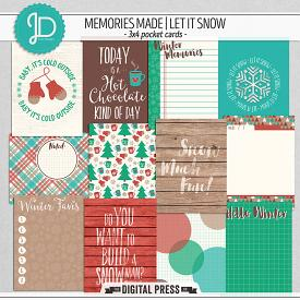 Memories Made | Let It Snow - 3x4 Pocket Cards