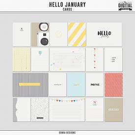 Hello January | Cards