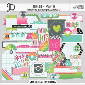 This Life | March - Stickers