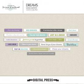 Dreams - word snippets