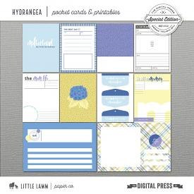 Hydrangea│Pocket Cards and Printables