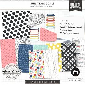 This Year : Goals | DIY Travelers Notebook Inserts