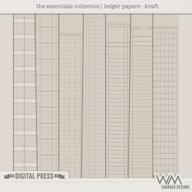 Essentials Collection   Ledger Papers - Kraft