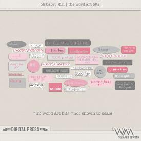 Oh Baby - Girl | The Word Art Bits