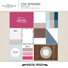 Love September -jounaling cards