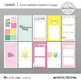 Lemonade│Travel Notebook Templates